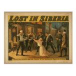 """Perdido en Siberia, """"detención esa teatro retro de Tarjetas Postales"""