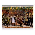 Perdido en teatro del vintage de Siberia Tarjeta Postal
