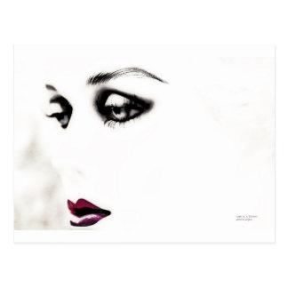 Perdido en un chica ideal, arte de la moda, tarjetas postales