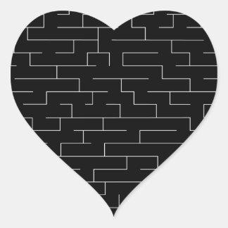 Perdido Pegatina En Forma De Corazón