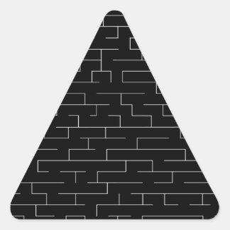 Perdido Pegatina Triangular