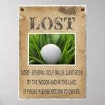 PERDIDO - pelota de golf Impresiones