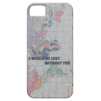 Perdido sin usted la caja del teléfono funda para iPhone 5 barely there