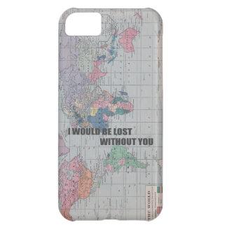 Perdido sin usted la caja del teléfono funda para iPhone 5C