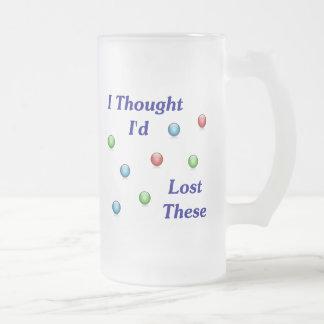Perdió mis mármoles taza de cristal