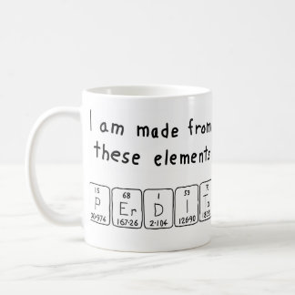 Perdita periodic table name mug