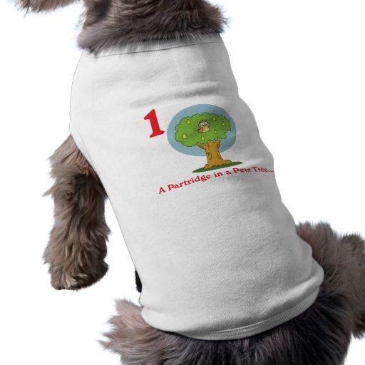 perdiz de 12 días en un peral camisetas de perrito