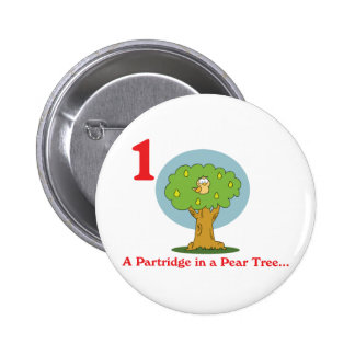 perdiz de 12 días en un peral pin redondo 5 cm