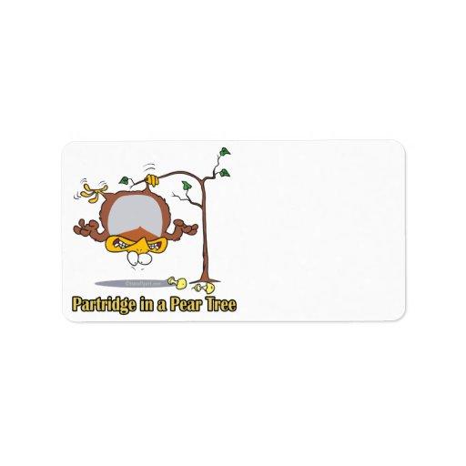 perdiz en navidad de un día del peral el 1r primer etiqueta de dirección