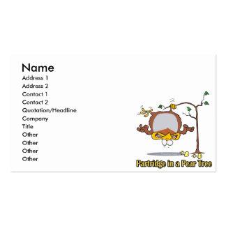 perdiz en navidad de un día del peral el 1r primer tarjetas de visita