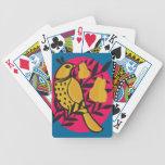 Perdiz en un peral baraja cartas de poker