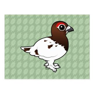 Perdiz nival del sauce de Birdorable, varón del Tarjeta Postal