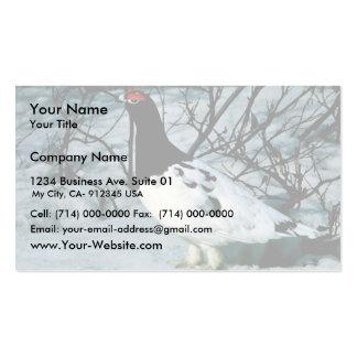 Perdiz nival del sauce tarjetas de visita