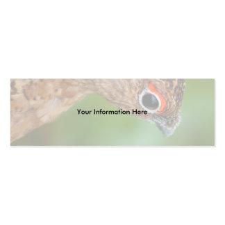 perdiz nival tarjetas de visita mini