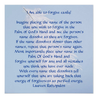 Perdón de otros y del uno mismo impresiones