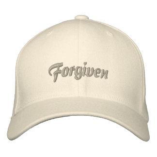 Perdonado por la gracia del gorra de dios gorras bordadas