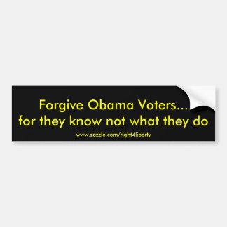 Perdone a Obama que los votantes… para ellos saben Pegatina Para Auto
