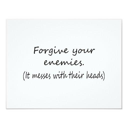 Perdone a sus enemigos invitación 10,8 x 13,9 cm