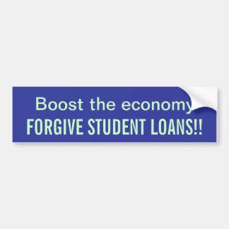 Perdone los préstamos del estudiante pegatina para auto