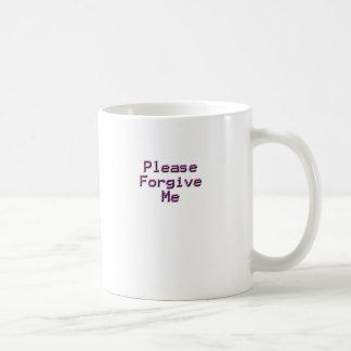 Perdone por favor la relación trasera feliz triste taza
