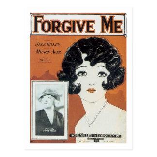 Perdóneme la cubierta del cancionero del vintage postales