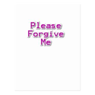 Perdóneme por favor tarjetas postales