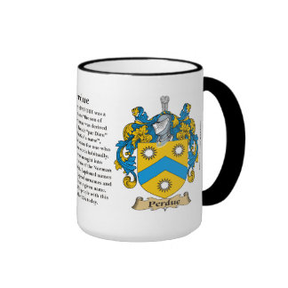 Perdue Family Coat of Arms Ringer Mug