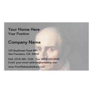 Pere Desmarets by Jean Auguste Dominique Ingres Business Card