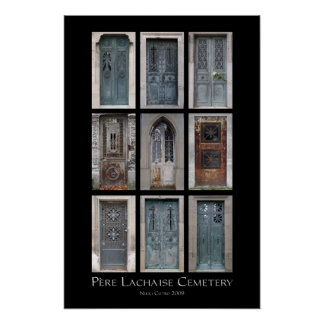 Père Lachaise Cemetery Crypt Print