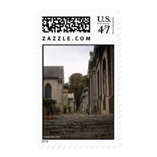 Père Lachaise Cemetery Postage Stamp