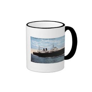 Pere Marquette Car Ferry 21 Crossing Lake Michigan Ringer Coffee Mug