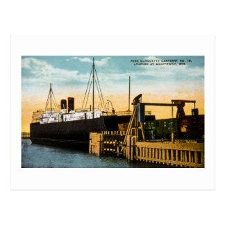 Pere Marquette Car Ferry No 18, Manitowoc Postcard