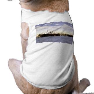 Pere Marquette Carferry Dock, Ludington, Michigan Dog T-shirt