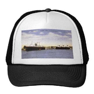 Pere Marquette Carferry Dock, Ludington, Michigan Trucker Hat