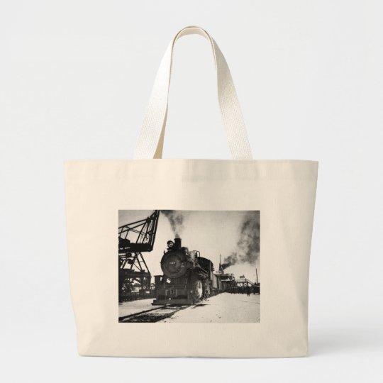 Pere Marquette Steam Engine 2170 Large Tote Bag