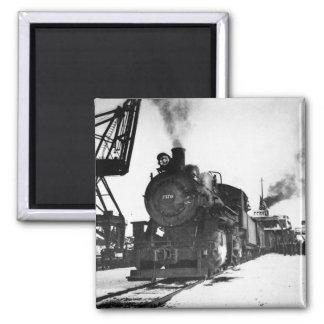 Pere Marquette Steam Engine 2170 2 Inch Square Magnet