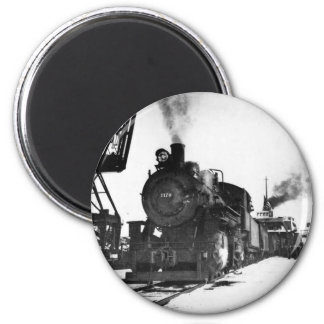 Pere Marquette Steam Engine 2170 2 Inch Round Magnet