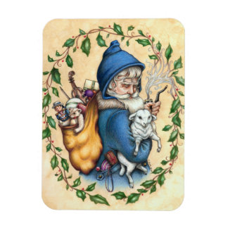 Pere Noel FATHER CHRISTMAS MAGNET Rectangle