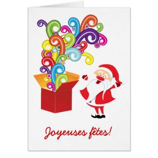 Père Noël y cartas de boîte de cadeaux Tarjeta De Felicitación