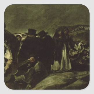 Peregrinaje a la fuente de San Isidro, c.1821/3 Pegatina Cuadrada