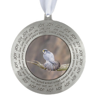 Peregrine Falcon at the Palisades Interstate Park Pewter Ornament