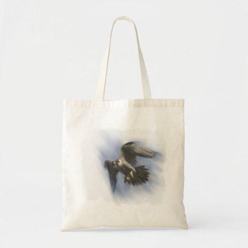 Peregrine Falcon in Flight Budget Tote Bag
