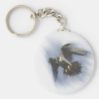 Peregrine Falcon in Flight Keychain