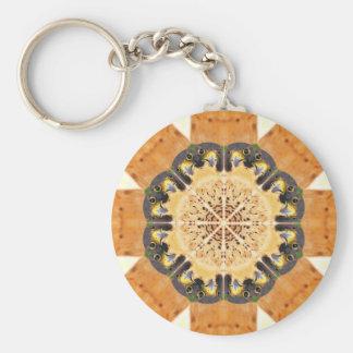 Peregrine Falcon Kaleidoscope Keychain