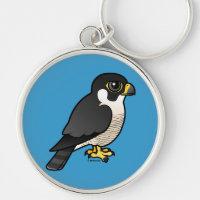 Cute Peregrine Falcon Premium Round Keychain