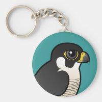 Cute Peregrine Falcon Basic Button Keychain
