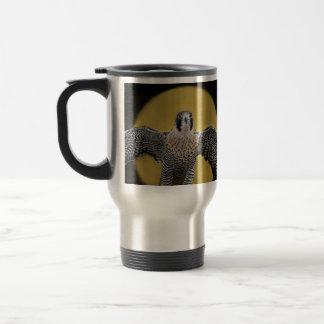 Peregrine Falcon Moon Rising Coffee Mugs