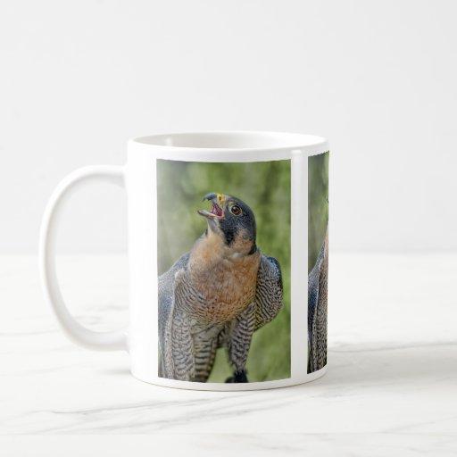 Peregrine Falcon Moon Rising Classic White Coffee Mug