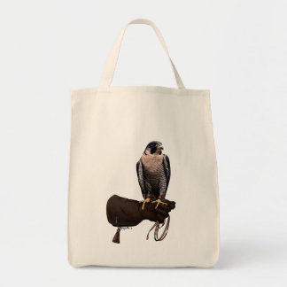 Peregrine Falcon on Glove Tote Bag