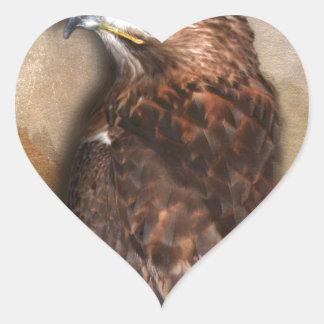 Peregrine Falcon Profile Heart Sticker
